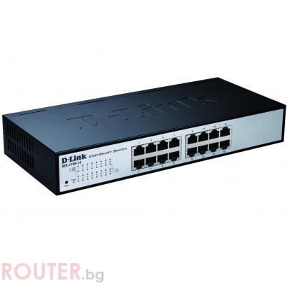 Мрежов суич D-LINK 16-port 10/100 EasySmart Switch