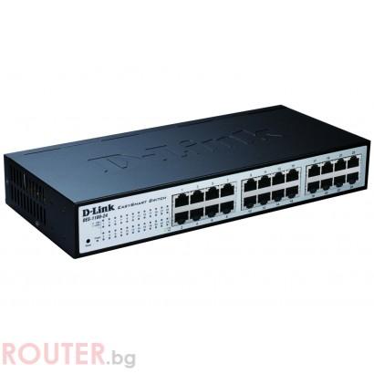 Мрежов суич D-LINK 24-port 10/100 EasySmart Switch