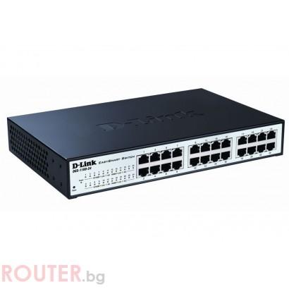 Мрежов суич D-LINK 24-port 10/100/1000 EasySmart Switch
