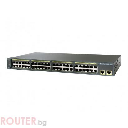 Мрежов суич CISCO Catalyst 2960 48 10/100 + 2 1000BT LAN Lite Image