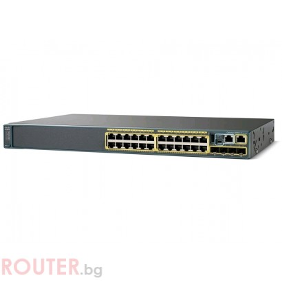 Мрежов суич CISCO Catalyst 2960S 24 GigE, 4 x SFP LAN Base Image
