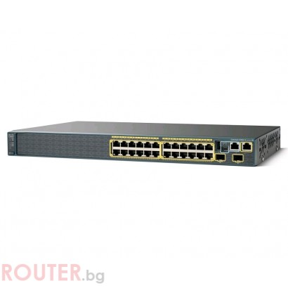 Мрежов суич CISCO Catalyst 2960S 24 GigE, 2 x SFP LAN Lite Image
