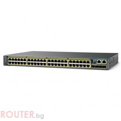 Мрежов суич CISCO Catalyst 2960S 48 GigE 4 x SFP LAN Base Image