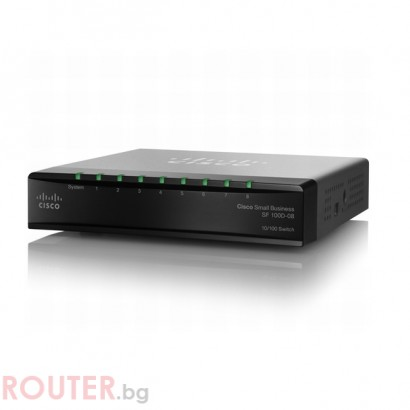 Мрежов суич CISCO SF100D-08 8-Port 10/100 Desktop Switch