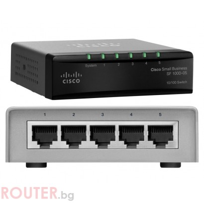 Мрежов суич CISCO SF 100D-05 5-Port 10/100 Switch
