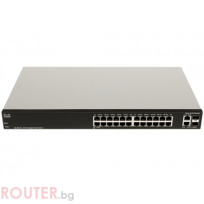 Мрежов суич CISCO SG 200-26 26-port Gigabit Smart Switch