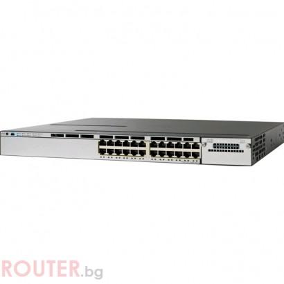 Мрежов суич CISCO Catalyst 3750X 24 Port Data IP Base
