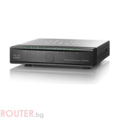 Мрежов суич CISCO SG 200-08P 8-port Gigabit Smart Switch with PoE