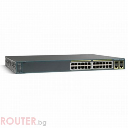 Мрежов суич CISCO Catalyst 2960 24 10/100 (8 PoE) + 2 T/SFP LAN Lite Image