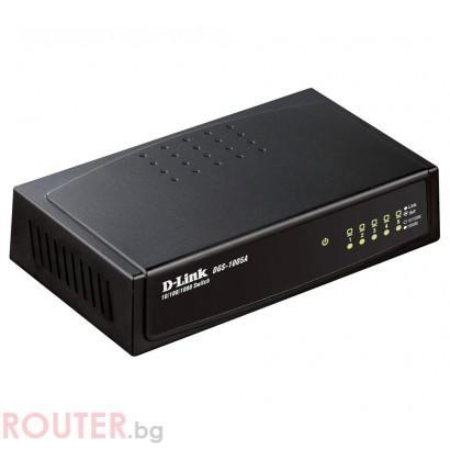 Мрежов суич D-LINK 5-Port 10/100/1000Mbps Copper Gigabit Ethernet Switch