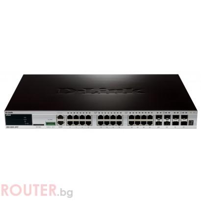 Мрежов суич D-LINK xStack 24-port