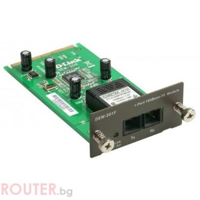 Мрежов суич D-LINK 1-Port 100BaseFX Fiber SC Module for DES-3018/DES-3026