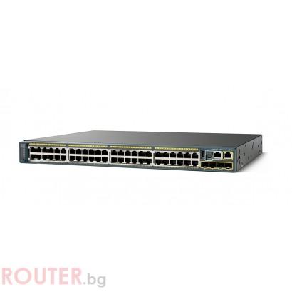 Мрежов суич CISCO Catalyst 2960S 48 GigE PoE 740W, 4 x SFP LAN Base