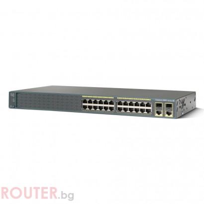 Мрежов суич CISCO Catalyst 2960 24 10/100 PoE + 2 T/SFP LAN Lite Image