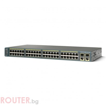 Мрежов суич CISCO Cisco Catalyst 2960 48 10/100 PoE + 2 1000BT +2 SFP LAN Lite Image