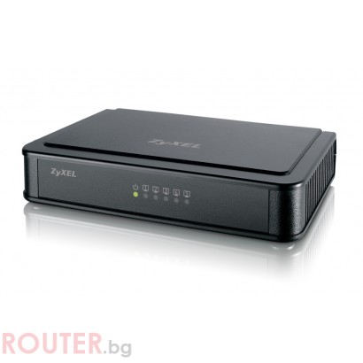 Мрежов суич ZyXEL ZyXEL ES-105E 5-port 10/100Mbps Ethernet switch, desktop, plastic housing, wall-mounted
