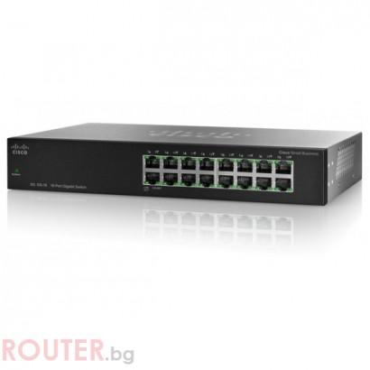 Мрежов суич CISCO SG100-16 16-Port Gigabit Switch
