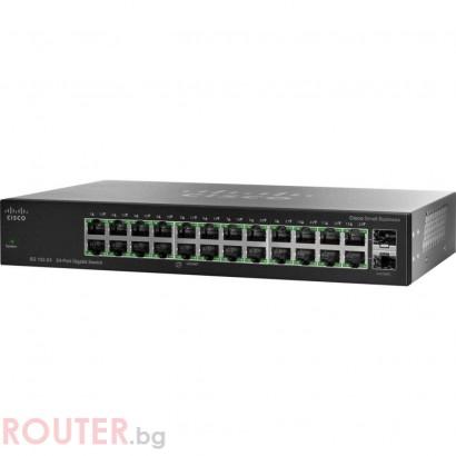 Мрежов суич CISCO SG102-24 Compact 24-Port Gigabit Switch