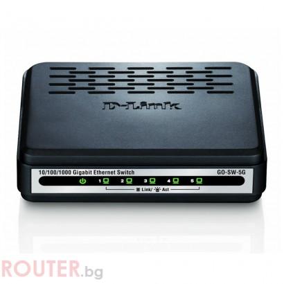 Мрежов суич D-LINK D-Link 5-Port 10/100/1000Mbps Unmanaged Gigabit Switch