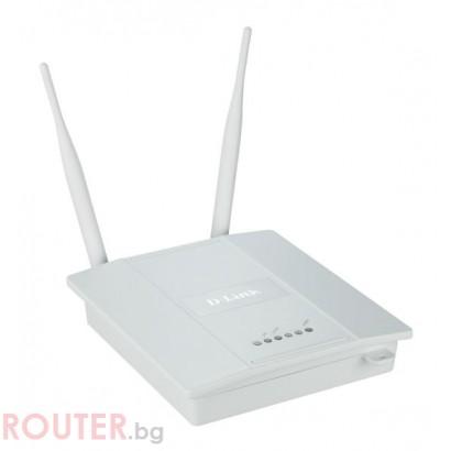 Мрежово устройство D-LINK Wireless N Single Band Gigabit PoE Managed Access Point w/ Plenum Chassis - Second Hand (ремаркетиран продукт)