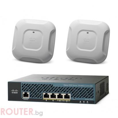 Безжична точка за  достъп CISCO Mobility Express Bundle 2x AP3700i and WLC2504