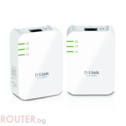Мрежово устройство D-LINK DHP-601AV PowerLine AV2 1000 HD Gigabit Starter Kit
