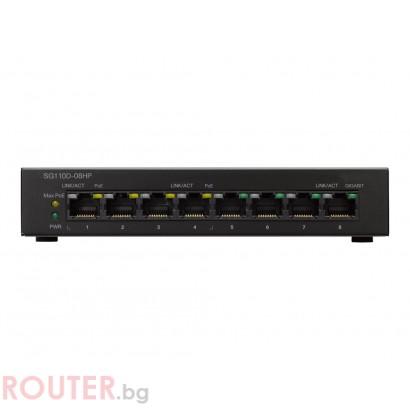Мрежов суич CISCO SG110D-08HP 8-Port PoE Gigabit Desktop Switch