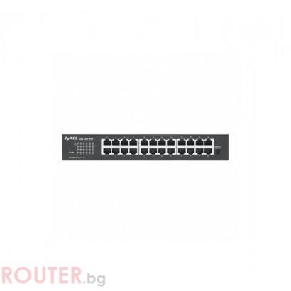 Мрежов суич ZYXEL GS1100-24E 24-port Gigabit Unmanaged switch