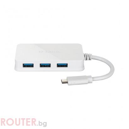 Мрежово устройство D-LINK USB-C to 4-Port USB 3.0 Hub