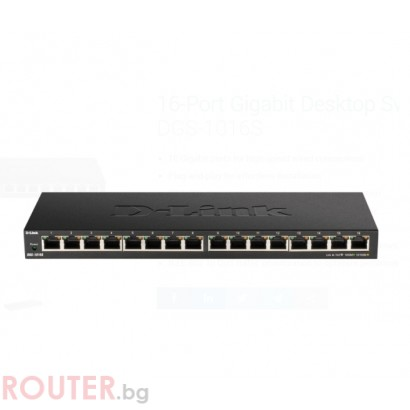 Мрежов суич D-LINK 16-Port 10/100/1000Mbps Unmanaged Gigabit Ethernet Switch