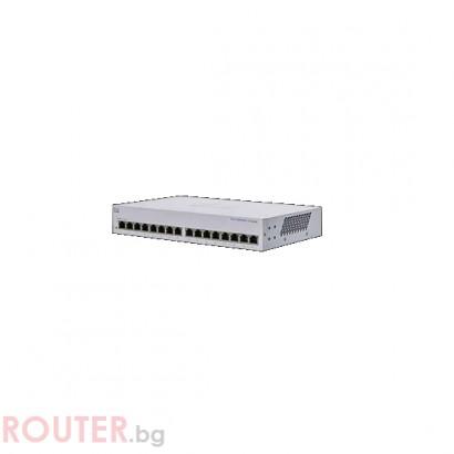 Мрежов суич CISCO CBS110 Unmanaged 16-port GE