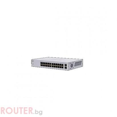 Мрежов суич CISCO CBS110 Unmanaged 24-port GE