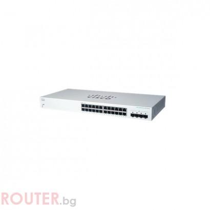 Мрежов суич CISCO CBS220 Smart 24-port GE