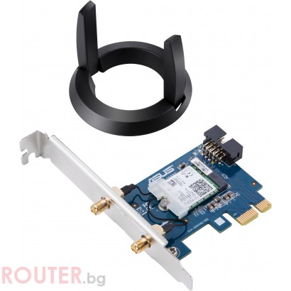 Безжичен PCI Express адаптер ASUS PCE-AC58BT AC2100, Dual-band, Bluetooth 5.0