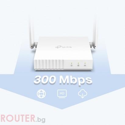 Безжичен рутер TP-LINK TL-WR844N 300Mbps, 5dB антени