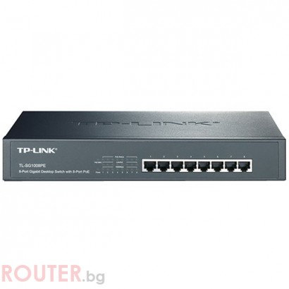 Мрежов суич TP-LINK TL-SG1008PE 8-Port Gigabit Switch