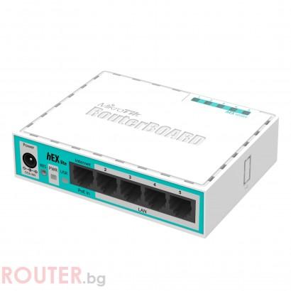 Рутер MiKrotik RB750R2, 10/100 Mbps, PoE, 64 MB, CPU 850MHz, Бял