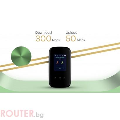 Безжичен рутер ZYXEL LTE2566, LTE 4G, SIM слот, 300Mbps, Двубандов
