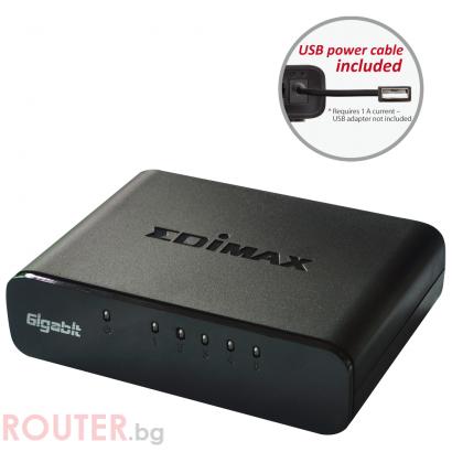 Суич EDIMAX ES-5500G V3, 5 портов, Gigabit