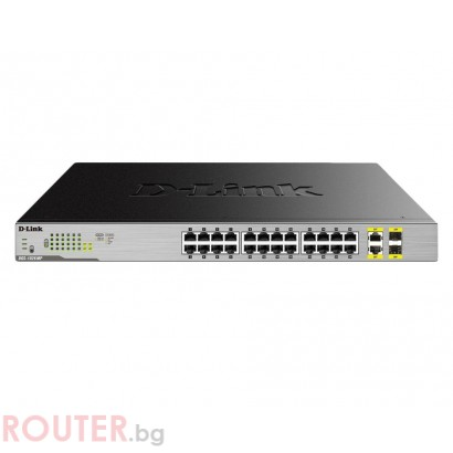 Мрежов суич D-LINK 24-Port Desktop Gigabit PoE + 2GE Combo Switch