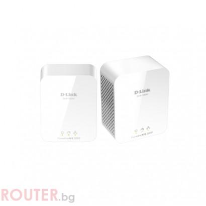 Мрежово устройство D-LINK DHP-701 PowerLine AV2 2000 HD Gigabit Starter Kit
