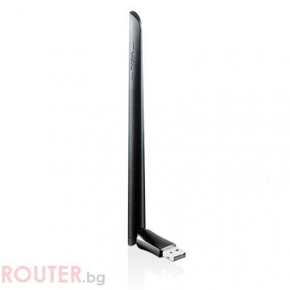 Безжичен адаптер D-Link DWA-172 dual band AC600 High-Gain, USB