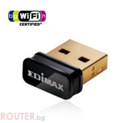 Безжична мрежова карта EDIMAX Eдимакс EW-7811Un 150Mbps 802.11n Nano USB адаптер