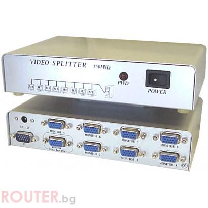 Адаптер ESTILLO видео сплитер Auto KVM Switch 8-port, MSV1815S