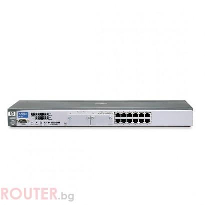 Мрежов суич HP ProCurve Switch 2512 - Second Hand (ремаркетиран продукт)