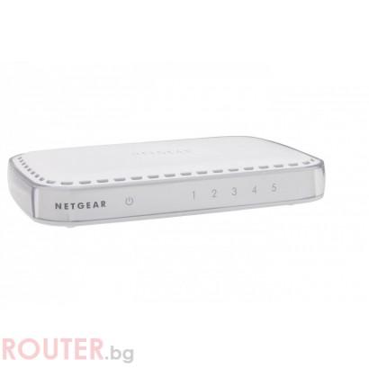 Мрежов суич NETGEAR GS605v4, 5 x 10/100/1000 Platinum Gigabit Switch