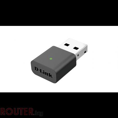 Безжичен адаптерr D-LINK DWA-131 Nano, USB