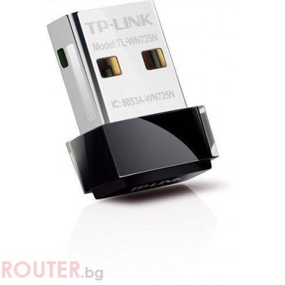 Безжична мрежова карта TP-LINK TL-WN725N USB 150Mbps