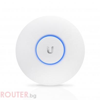 Мрежова точка за достъп Ubiquiti UniFi AP AC Lite, AC1200, PoE Poweчервен, 122m