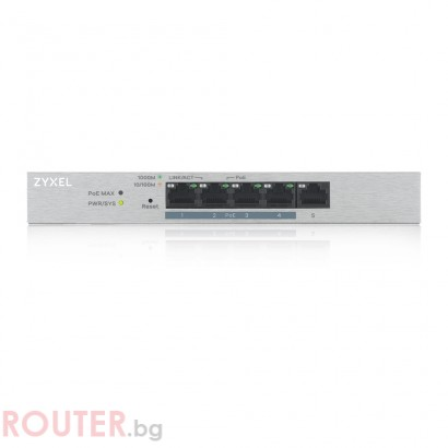 Мрежов суич ZYXEL GS1200-5HPv2 5 Port Gigabit